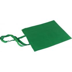 Torba bawełniana 38x42 cm z długim uchwytem zielona